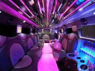 Cadillac Escalade limo interior Memphis